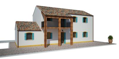 Configura la tua casa in legno modello murano da 137 for Casa del merluzzo del capo con portico