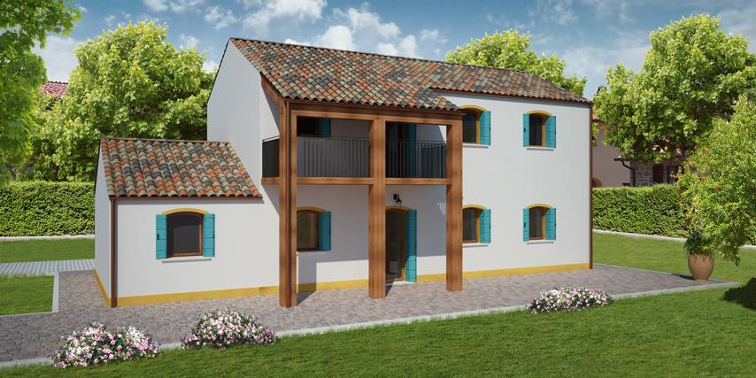 Modello rialto 135 m2 casa in legno con tetto a 2 falde - Casa con tetto in legno ...