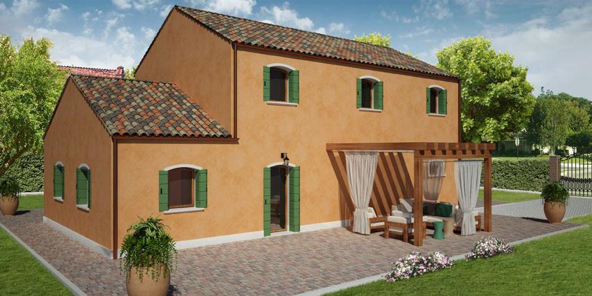Startstop with casa con tetto in legno for Piani economici della cabina di ceppo
