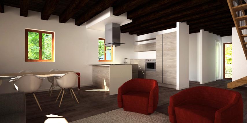 Modello pellestrina 100 m2 casa in legno con tetto a 2 for Casa moderna con tetto in legno