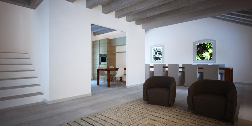Modello riviera 170 m2 casa in legno con tetto a 2 falde for Casa moderna con tetto in legno