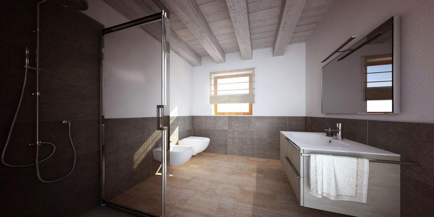 Modello murano 100 m2 casa in legno con tetto a 4 falde a partire da - Legno sbiancato tetto ...
