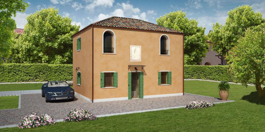 Modello murano 100 m2 casa in legno con tetto a 4 falde for Case in legno 100 mq
