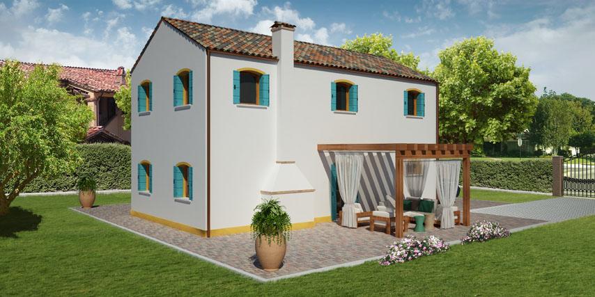 Pareti Esterne In Vetro E Legno : Modello rialto m casa in legno con tetto a falde