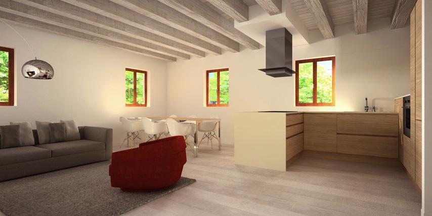 Modello burano 122 m2 casa in legno con tetto a 2 falde for Casa moderna bagni
